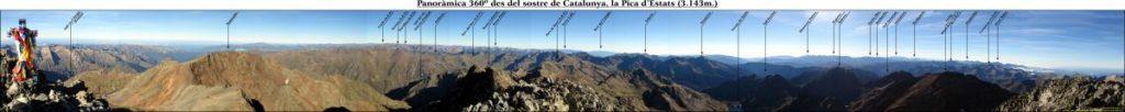 Panoràmica 360º cim la Pica d'Estats