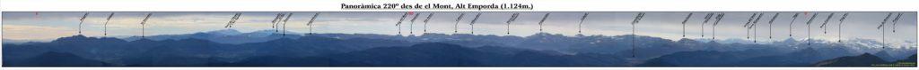 Panoràmica 220º des del cim de el Mont