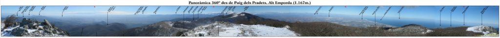 Panoràmica 360º des del cim del Puig dels Pradets