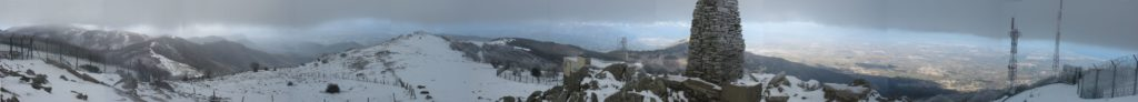 Panoràmica 340º des del cim de Puig Neulós