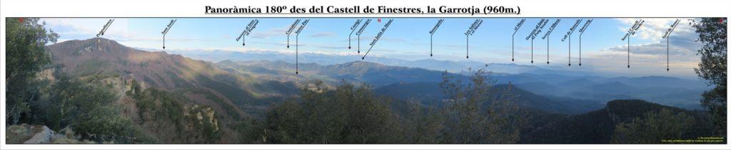 Panoràmica 180º Castell de Finestres