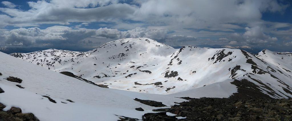 Carena al Puigmal des del coll de l'Err