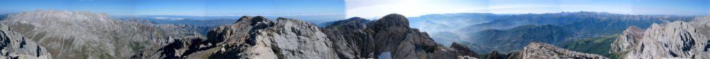 Panoràmica cim massis d'Andara o oriental