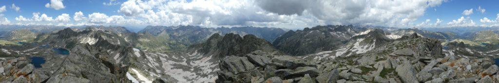 Panoràmica 360º des del cim del Gran Tuc de Colomèrs