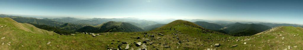 Panoràmica 360º des del cim de l'Adi