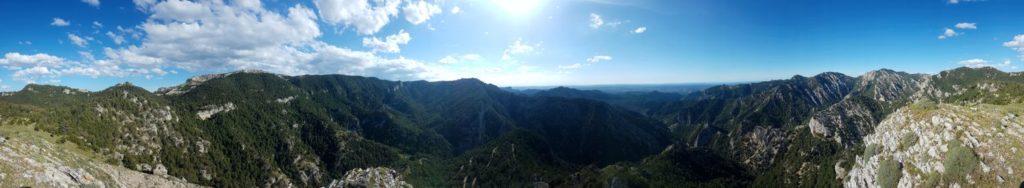 Barrancades des del cim del Punta Serena