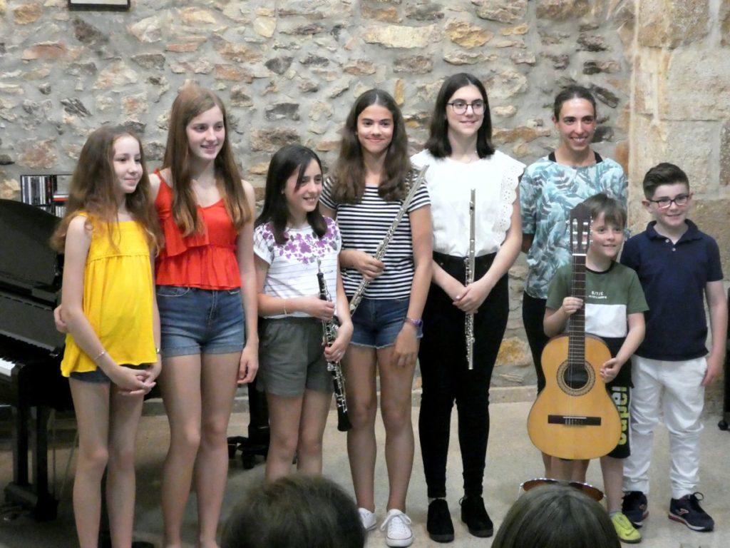 Alumnes d'instrument audició Joventuts Unides