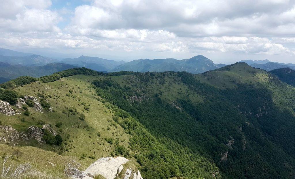 Carena del Puig de les Bruixes al Comanegra. Al fons el Bassegoda