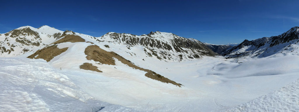 Vall de Campcardós i collet Envalires des de la Portella Blanca
