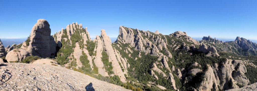 Els Ecos, Sant Jeroni i la part oriental de Montserrat
