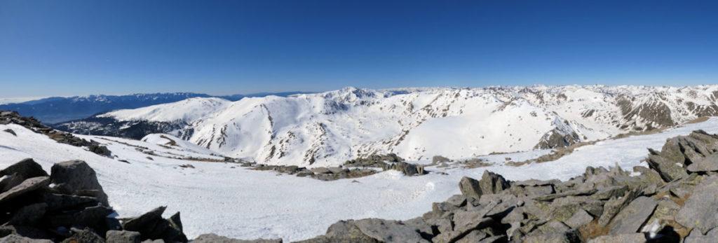 Els cims de la Cerdanya des del Puigpedrós