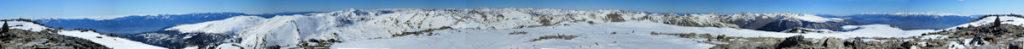 Panoràmica 360º des del cim del Puigpedrós